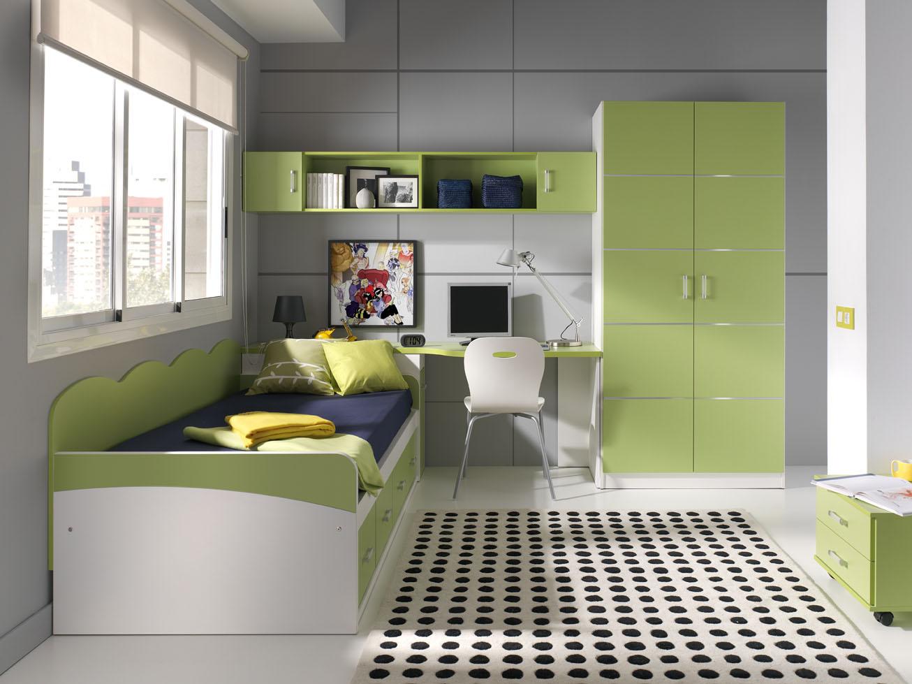 Dormitorios juveniles en color verde muebles orts blog - Dormitorio de ninos ...
