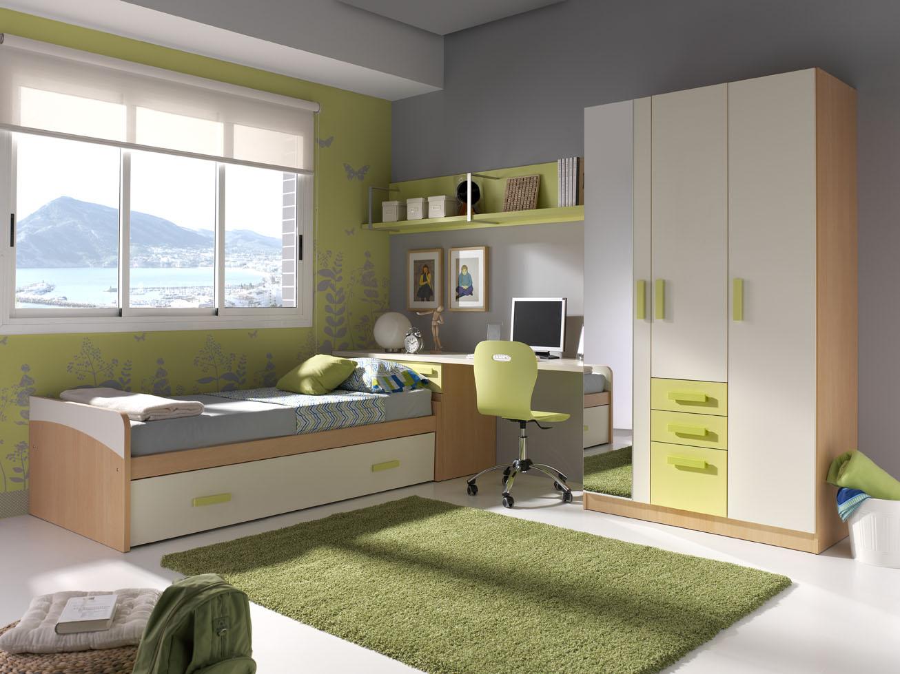 Muebles gris con verde 20170830120915 - Dormitorio verde ...
