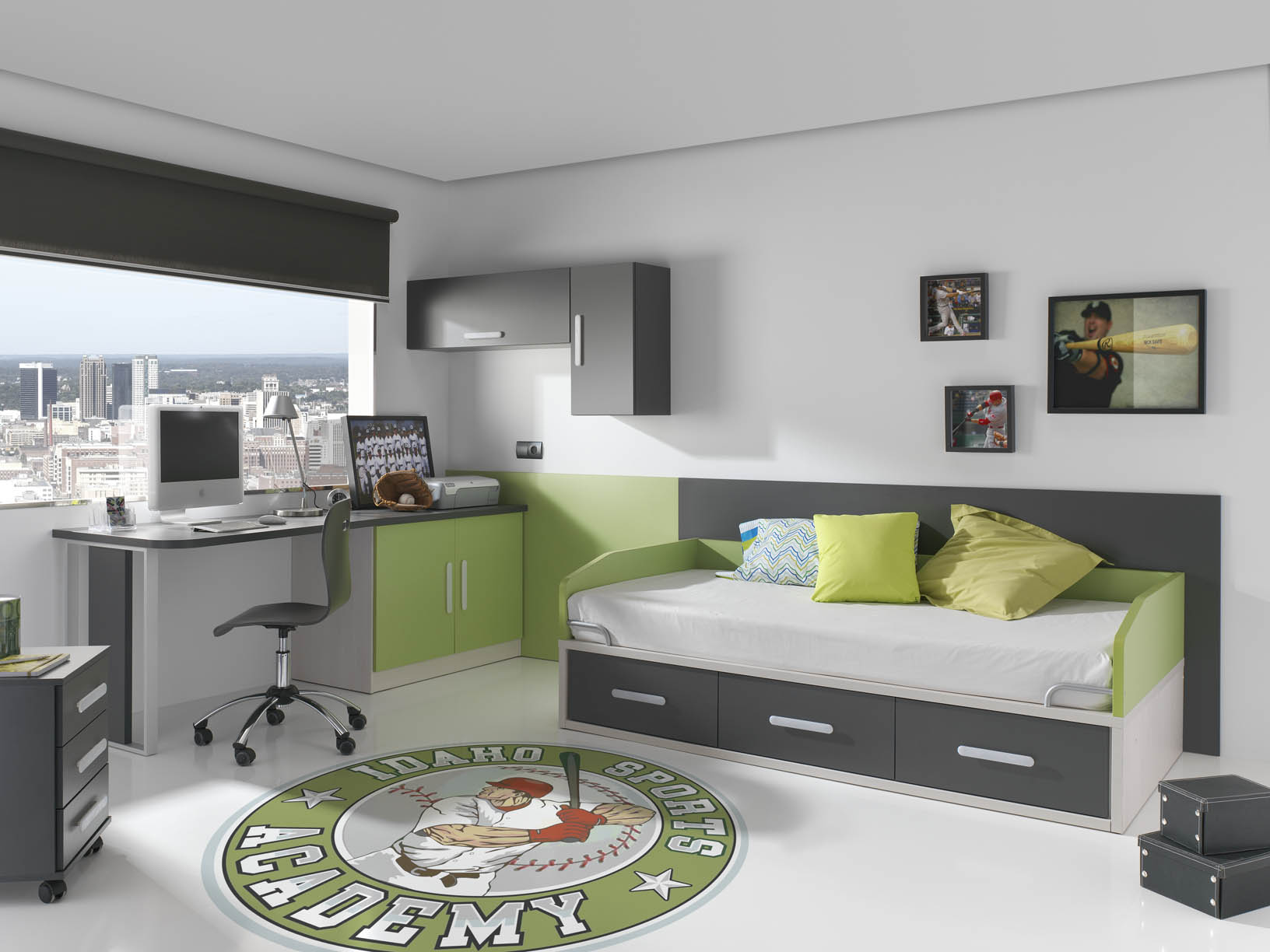 Dormitorios juveniles en color verde muebles orts blog for Decoracion dormitorio juvenil