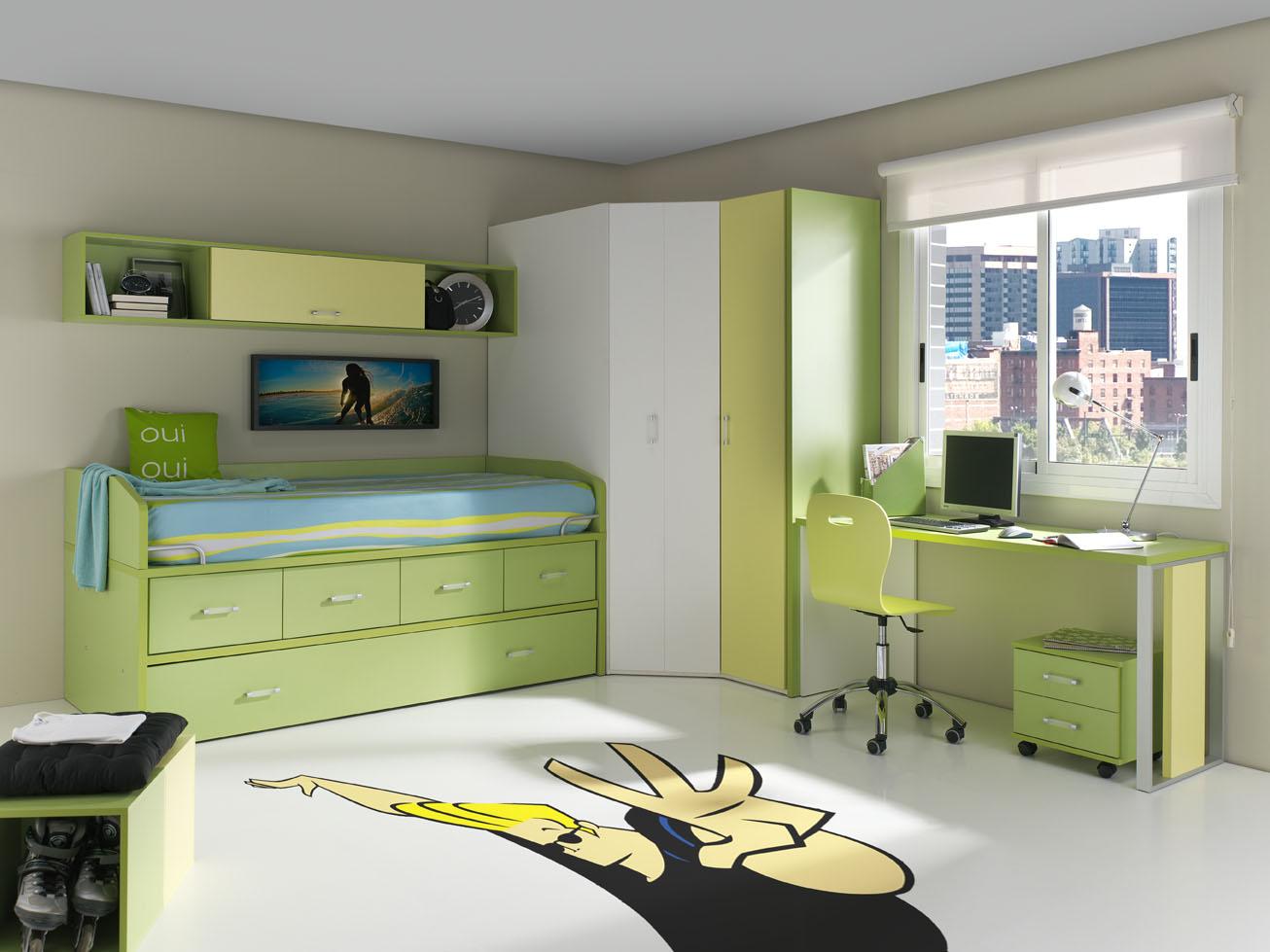 Dormitorios juveniles en color verde muebles orts blog - Colores para dormitorios juveniles ...