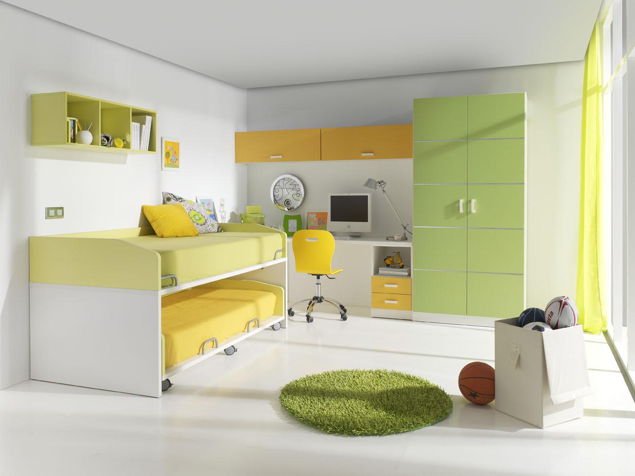 Dormitorios juveniles en color verde muebles orts blog - Paredes habitacion juvenil ...