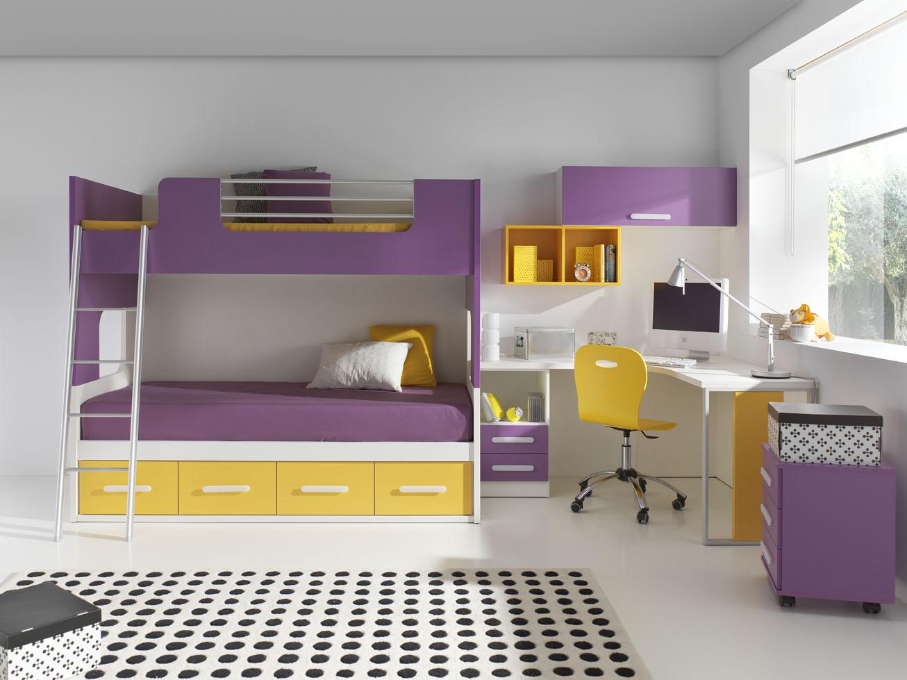 C mo aprovechamos el espacio muebles orts blog - Dormitorios con literas para ninos ...