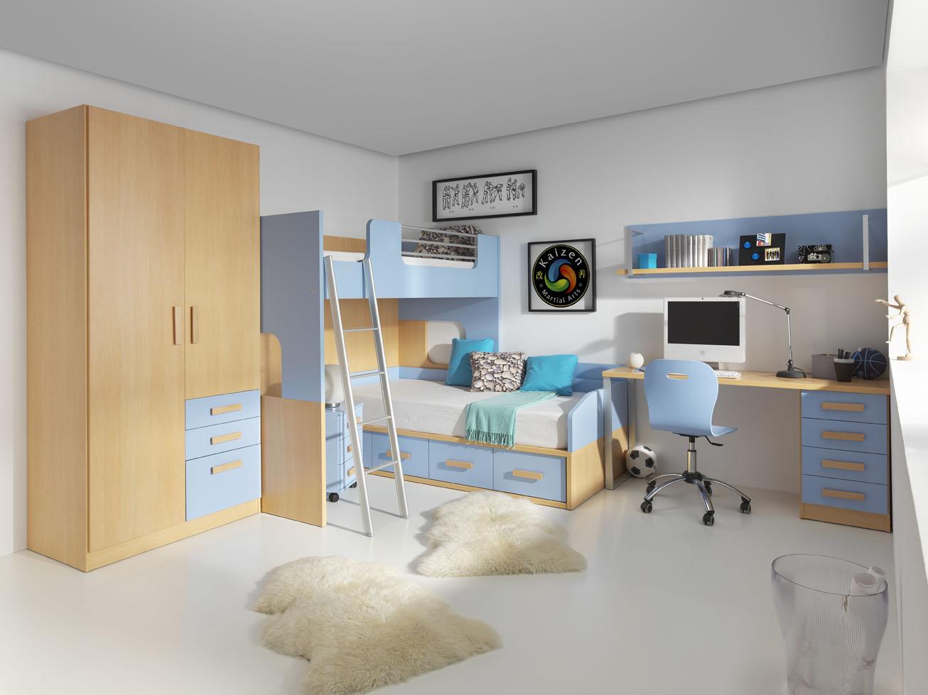 Habitaciones compartidas para ni os muebles orts blog - El mueble dormitorio juvenil ...