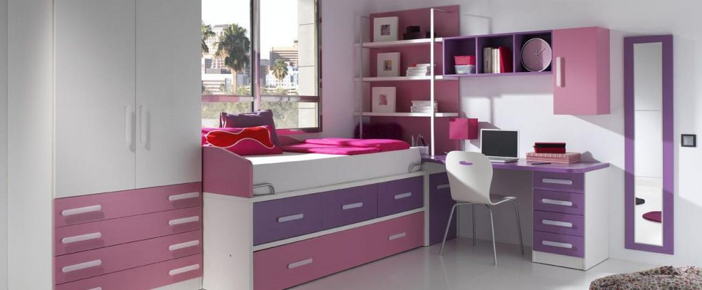 Muebles modulares para el dormitorio juvenil muebles for Muebles de escritorio juveniles