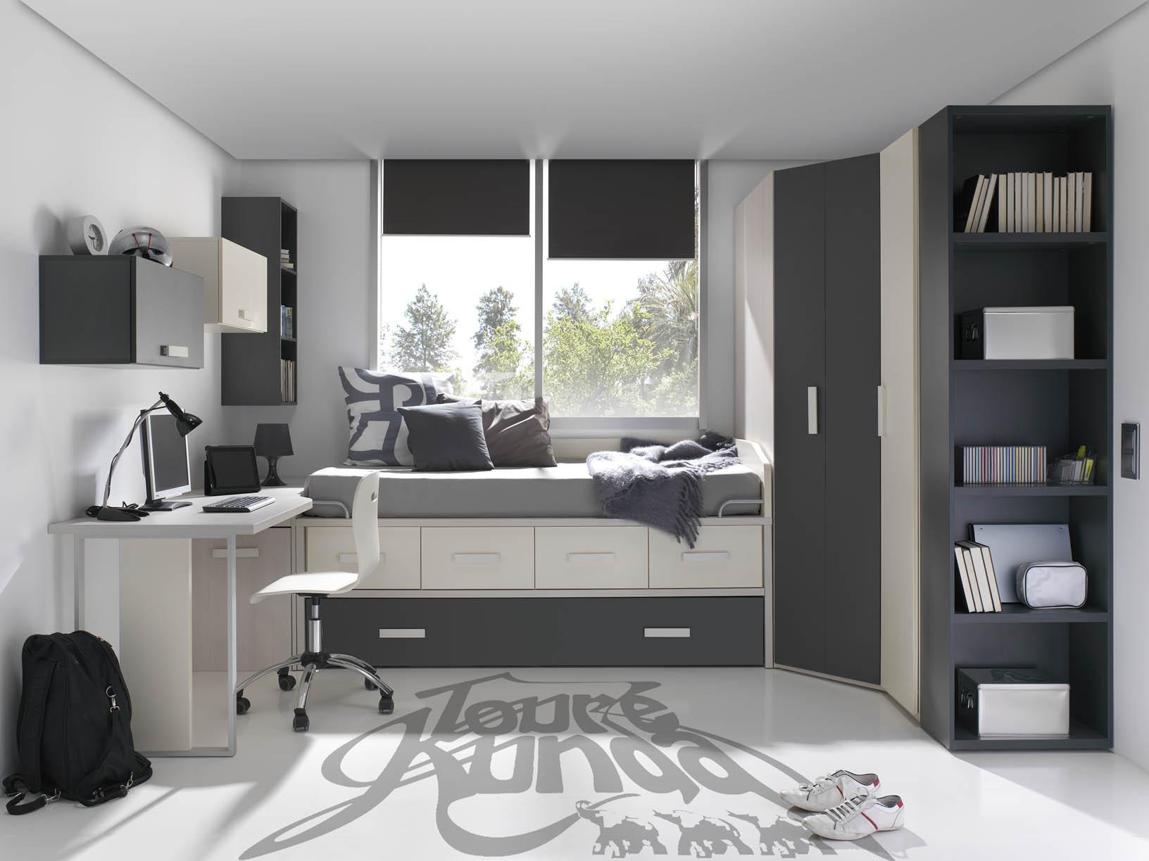 Muebles modulares para el dormitorio juvenil muebles - Habitaciones modulares juveniles ...