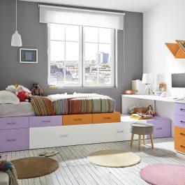 Ventajas de los muebles modulares en las habitaciones juveniles
