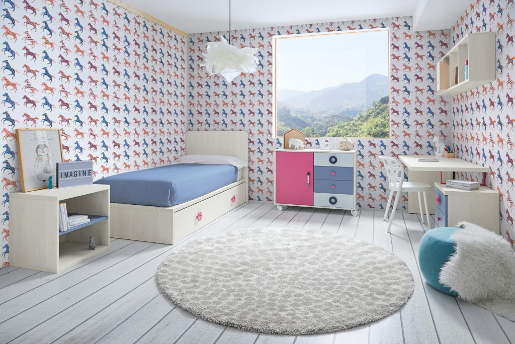 Composición 73 colección Sonríe con cama infantil