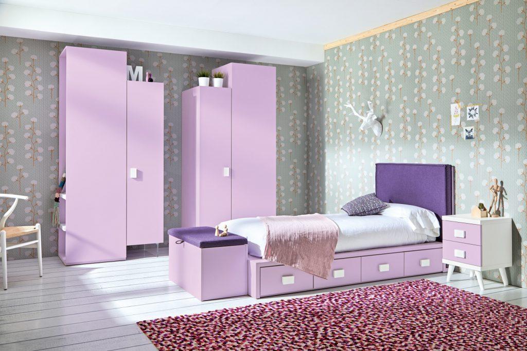 Dormitorio juvenil Coleccion Sonrie Muebles Orts