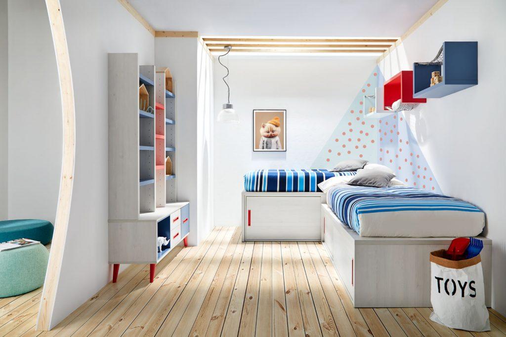 Composición 19 con camas individuales