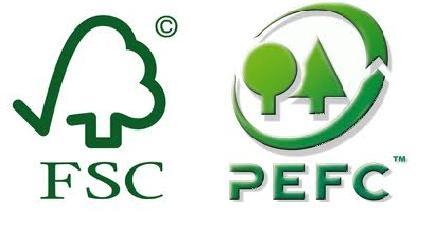 Símbolos FSC & PEFC